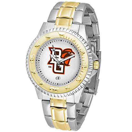 Mens Executive Watch Falcons (New Linkswalker Mens Bowling Green Falcons Competitor Two Tone Watch)