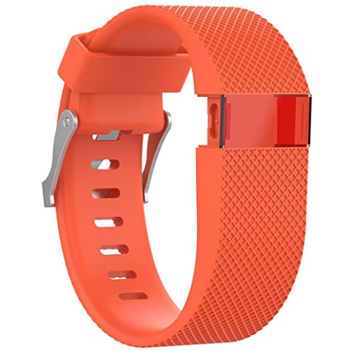 Lanhui Replacement Wrist Band Silicon Strap Clasp+Protector Film For Fitbit Charge HR - Vintage Diesel Sunglasses
