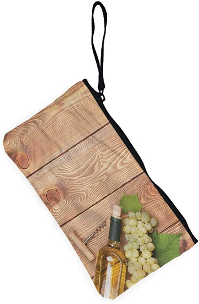 Wallet with coin pocket Winery,Vineyard Tuscany Grape,Pouch purse case bag