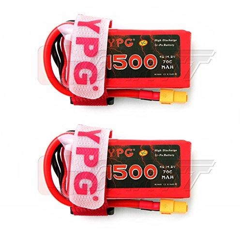 gartt-2-packs-ypg-4s-148v-1500mah-70c-lipo-battery-with-xt60-plug-for-rc-car-mini-drones-and-fpv-qua