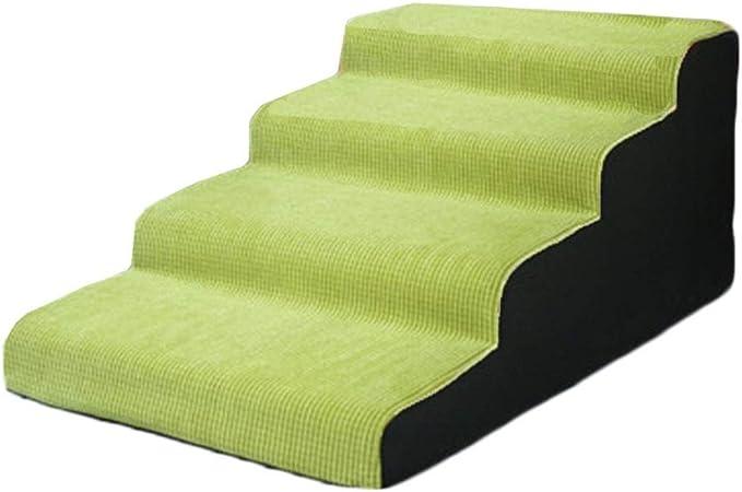 Escaleras para Mascotas de 4 Pasos de Fruit Green, rampa de Escalera para Gatos/Perros portátiles para subirse a la Cama y el sofá, Soporte 75 kg (Size : 4 Step 50cm): Amazon.es: Hogar