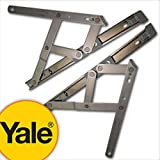 Yale uPVC Window Hinge Double Glazing Friction Stay PVC 13mm (Top 16 13mm Stack) by Yale