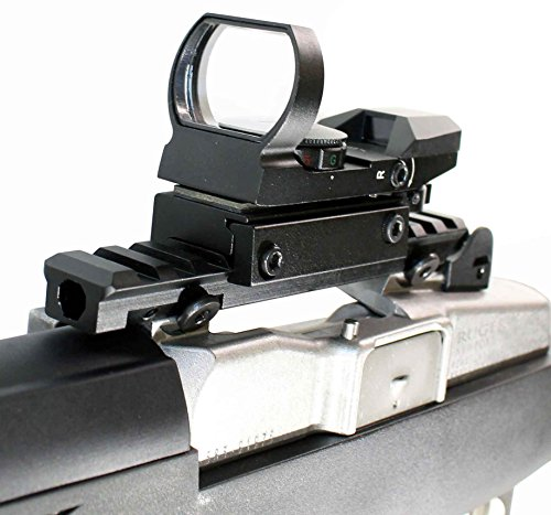 TRINITY Red GREEN Sight Matte System Reflex With single rail mount for Ruger Mini 14 Rifle.
