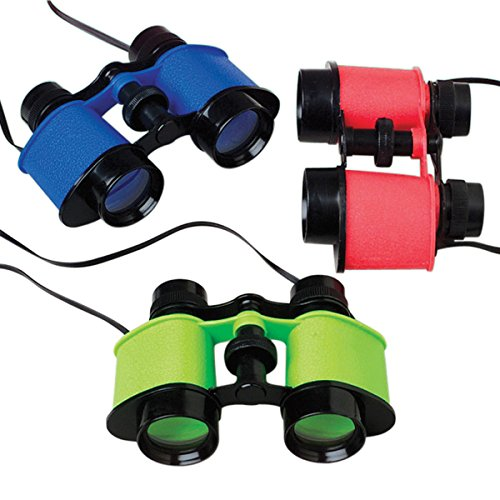 Binoculars, Assorted Colors, 12 count