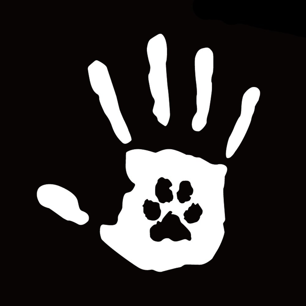 856store Clearance Sale Creative Hand Print with Dog Cat Pet Paw Print Rescue Car Sticker Decal Decor