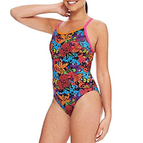 Zoggs Swimming Costume Girls (Zoggs Girls Pop Flower Swimsuit Size 32)