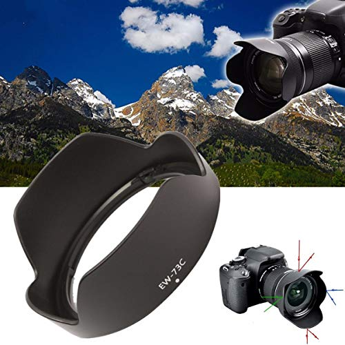 10mm-18mm EW-73C Bayonet Mount Lens Hood Cap for Canon EF-S 10-18mm F/4.5-5.6 is Anti-Shake Bayonet Hood Wider Angle Zoom Lens