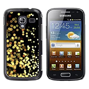 LECELL--Funda protectora / Cubierta / Piel For Samsung Galaxy Ace 2 I8160 Ace II X S7560M -- Yellow Lights Gold Sparkling Black --