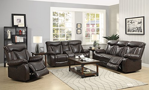 Coaster Zimmerman Casual Dark Brown Power Reclining Sofa with Pillow Arms Review