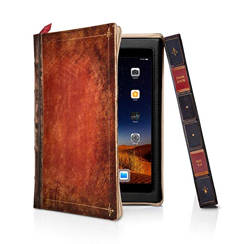 Twelve South BookBook Case for iPad Mini 5 | Hardback Leather Cover with Multi-Angle Viewing and Apple Pencil Slot (Rutledge)