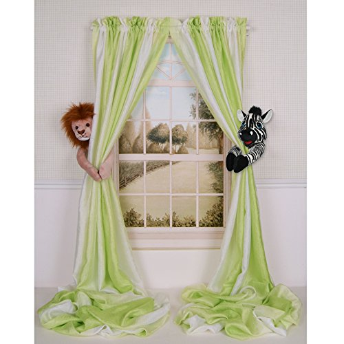 Baby Nursery Jungle Safari Lion and Zebra Curtain Tieback Collector Set from Curtain Critters