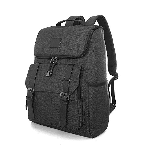 UGRACE Water Resistant Slim Lightweight Laptop Backpack Business Rucksack Casual Daypack for School Working Hiking,Large Capacity Travelling Backpack Fits up to 15.6Inch Macbook in Black