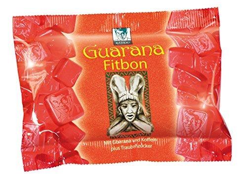 BADERs Guarana Fitbon. Das Geheimnis der Inka für frische Energie. Mit Guarana und Koffein plus Traubenzucker. Immer dann, wenn's drauf ankommt. Pharmazentralnummer: 03079019