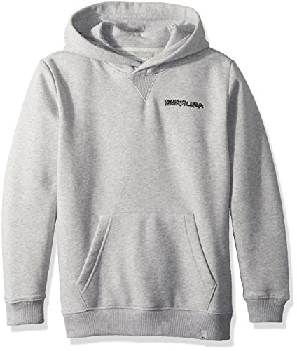 (Quiksilver Boys' Big Hood Screen Art Kids Fleece, Light Grey Heather S/10)