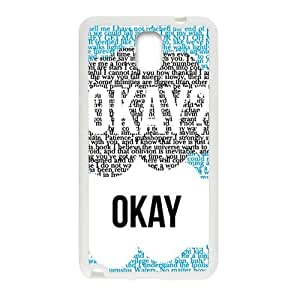 Happy Creative design Okay letter Cell Phone Case for Samsung Galaxy Note3
