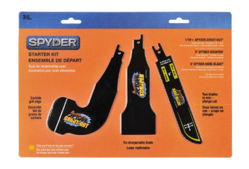 Spyder 900305 Starter Kit with 1/16 Plus Spyder Grout Out Blade, 2-Inch...