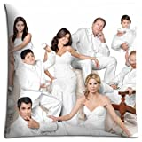 No-shift Zippered Fits Modern Family Bedroom Pillow Cases Polyester Cotton 16x16 inch 40x40 cm