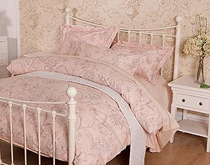 Jardín francés cuatro piezas de ropa de cama de algodón chivado,Pink,1,