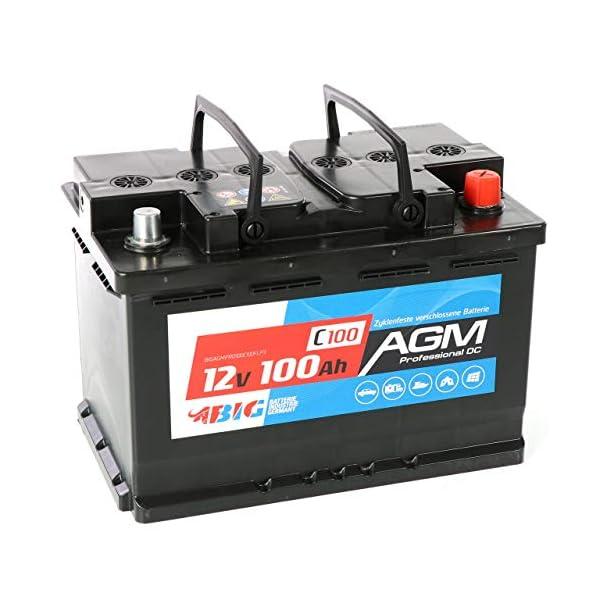 51bVunSfoOL BIG AGM Batterie 100Ah C100 12V Solarbatterie Versorgungsbatterie Mover Bootsbatterie