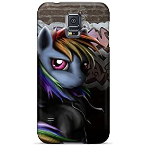 samsung galaxy s5 Plastic mobile phone carrying covers High Quality covers protection rainbow dash grafiti