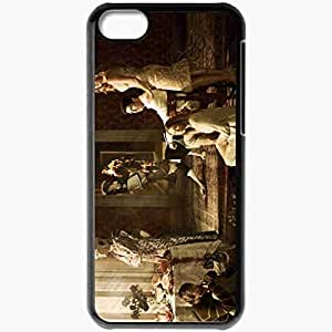 Personalized iPhone 5C Cell phone Case/Cover Skin American Horror Story Season 3 Movie Black