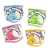 Fairy Baby 4 PCS Cotton Baby Umbilical Cord Thin Cartoon Bellyband,Fit Waist 15.1''-17.7''