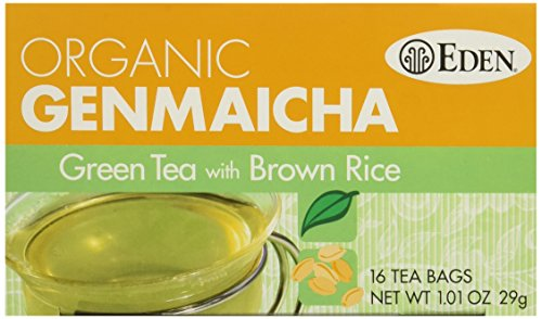Eden Foods Genmaicha Green Tea with Brown Rice 16 Tea Bags, 1.01-Oz. (3 Pack)