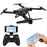 Bo Toys X8tw Drone RC Quadcopter Altitude Hold Headless RTF 3D 360 Degree FPV VIDEO WIFI 720P HD Camera 6 axis 4CH 2.4Ghz Steady Easy Fly - Height Hold for learning - Black