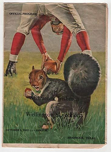 1962 Texas High School Football Program Shamrock v Wellington 10/5 49472