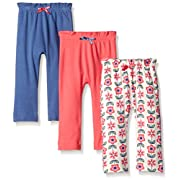 Touched by Nature Baby Organic Cotton Pants, Flower 3Pk, 0-3 Months