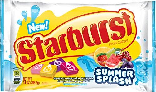 Starburst Summer Splash Fruit Chews Candy, 14 Ounce (Pack of 12) (Starburst Fruit Chews)