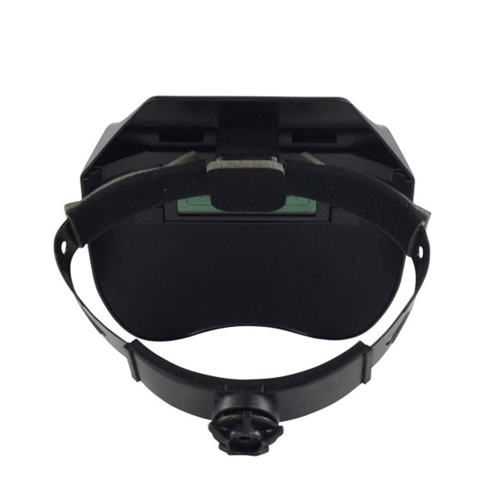 Máscara de soldar, máscara de soldar, máscara de soldar, esponja suave, oscurecimiento automático Tamaño libre negro: Amazon.es: Hogar