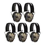 Walkers Razor Slim Electronic Shooting Ear Muff (Kryptek Camo) 5-Pack Bundle (5 Items)