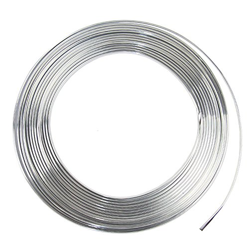 15 Feet Door Front Rear Lip Edge Overlay Molding Guard Protection Decoration Stripe Trim D.I.Y. FIT (Silver)