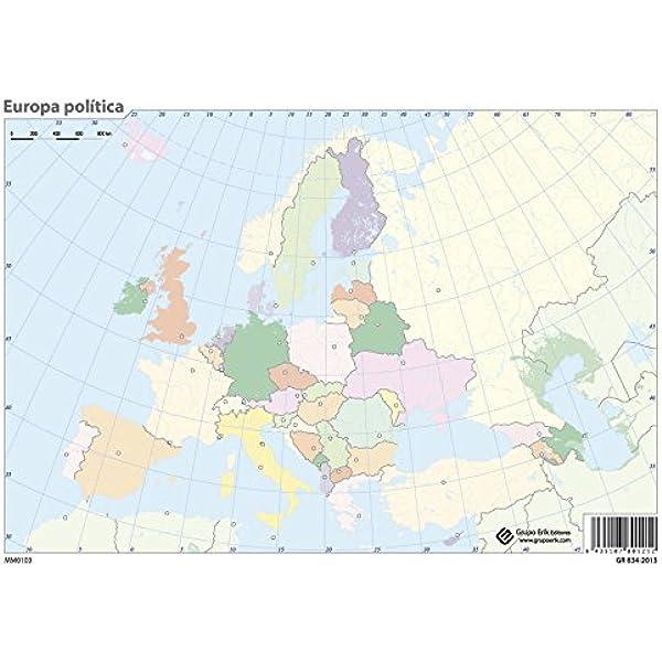 Grupo Erik Editores Pack 10 Mapas Mudos En Portugúes Europa ...