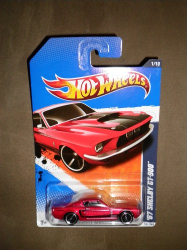 HOT WHEELS 2011 MUSCLE MANIA 1/10 RED '67 Ford Mustang Fastback SHELBY GT-500 101/244
