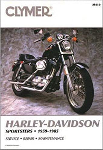 m419 1959 1985 harley davidson sportster motorcycle repair servicem419 1959 1985 harley davidson sportster motorcycle repair service manual by clymer manufacturer amazon com books