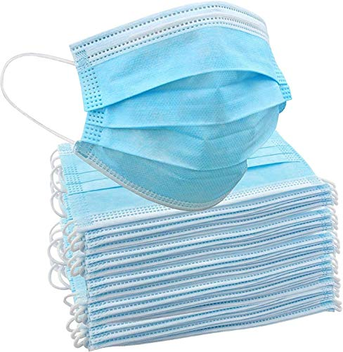 Disposable 3-Ply Cloth Face Mask 50 Count