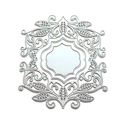 TOPUNDER Flower Heart Metal Cutting Dies Stencils DIY Scrapbooking Album Paper (Greek Wood Frame)