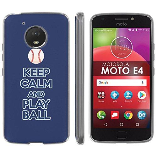 "Motorola Moto E [4th Gen] TPU Silicone Phone Case [Mobiflare] [Clear] Ultraflex Thin Gel Phone Cover - [Play Ball - Tampa Bay] for Moto E4 [Moto E 4th Gen] [5"" Screen]"