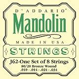 D'Addario J62 - Juego de cuerdas para mandolina, mandola, mandocello, mandobajo de bronce