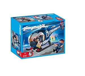 Playmobil 626019 polic a helic ptero de polic a amazon for Helicoptero playmobil