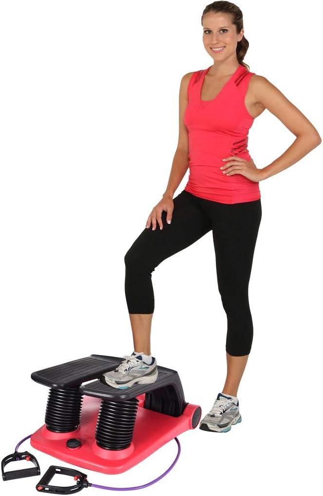 leises Drehen mit Widerstandsseil f/ür Zuhause Mini-Haushalts-Stepper B/üro Fitnessstudio Fitnessger/ät YOUSIS Up-Down-Stepper f/ür Zuhause