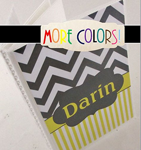 Photo Album 465 4x6 or 5x7 Gray Yellow Chevron COLOR CHOICES Personalized with your name or message!