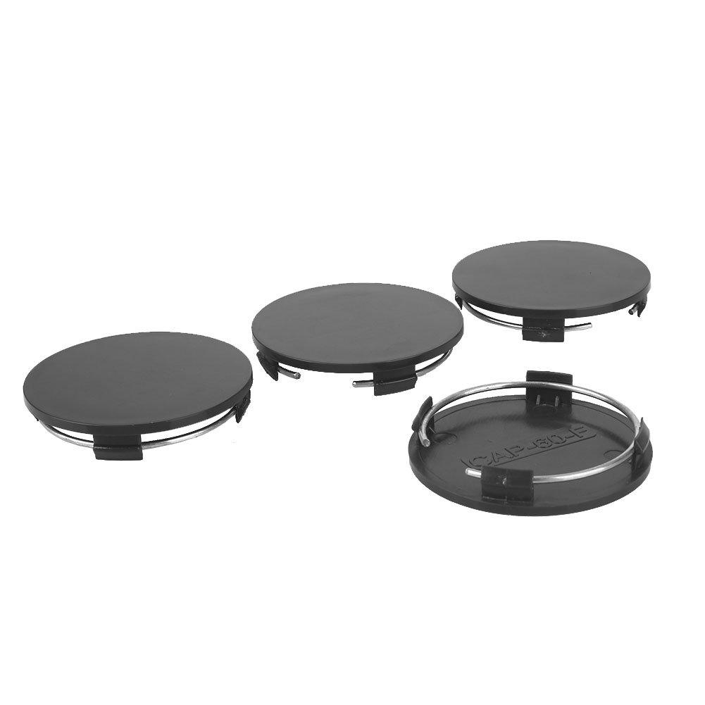 Skino 4 x 60mm ABS Plastic Black Universal Car Rims Wheel Center Hub Caps C 0