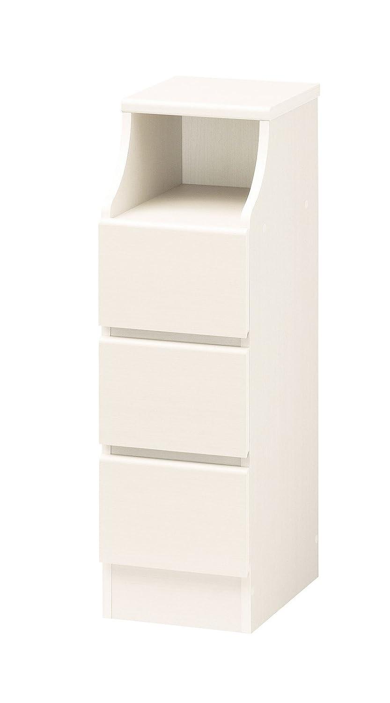 収納家具 インテリア家具 キャビネット 組み立て が 苦手な人 でも 力のない 女性 でも 簡単 シンプルな CHESCA チェスト 幅28cm ホワイト B00UBNL03W