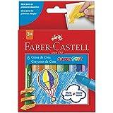 Giz de Cera Super Soft 6 Cores, Faber-Castell