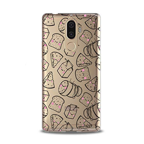 Lex Altern TPU Case for Lenovo Phone K8 Note K6 Note 2017 K5 Plus Z5 Kawaii Food Graphic Clear Silicone Cheese Cover Print Protective Bread Lightweight Milk Flexible Girl Women Soft Kid Smooth Art]()