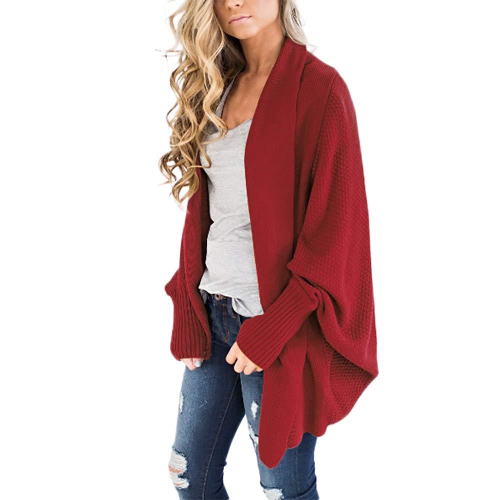 ZODOF Mujeres Floja Ocasional Sué ter de Punto Pullover Womens Off The Shoulder Sweater Casual de Punto Suelta Manga Larga Pullover