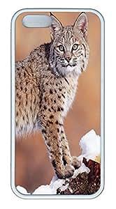 iPhone 5 5S Case Lynx TPU Custom iPhone 5 5S Case Cover White